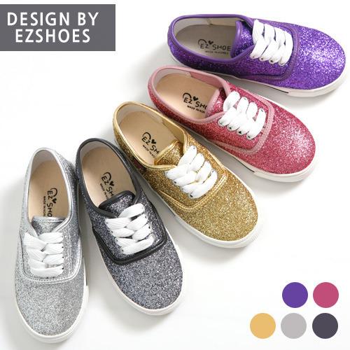 a5f091f2051b EZ SHOES - BRAND - Korean Children Fashion - #Kfashion4kids - Pearl Glitter  Canvas Shoes