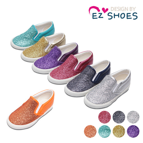 dac06ce519f6 EZ SHOES - BRAND - Korean Children Fashion - #Kfashion4kids - Pearl Glitter  Slip-