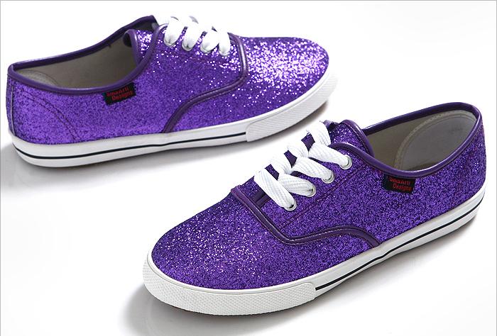 b036f8a1509e Pearl Glitter Canvas Shoes - purple4
