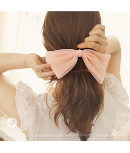 Big Ribbon Adult Peach Pink Pin