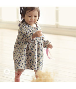 Blue Flower Baby Dress