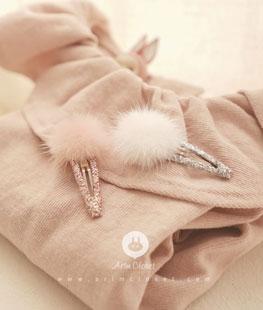 White Or Pink Shine Mink Fur Pin