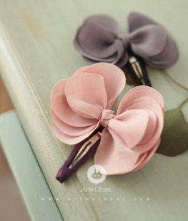 Butterfly Pink Gray Pin