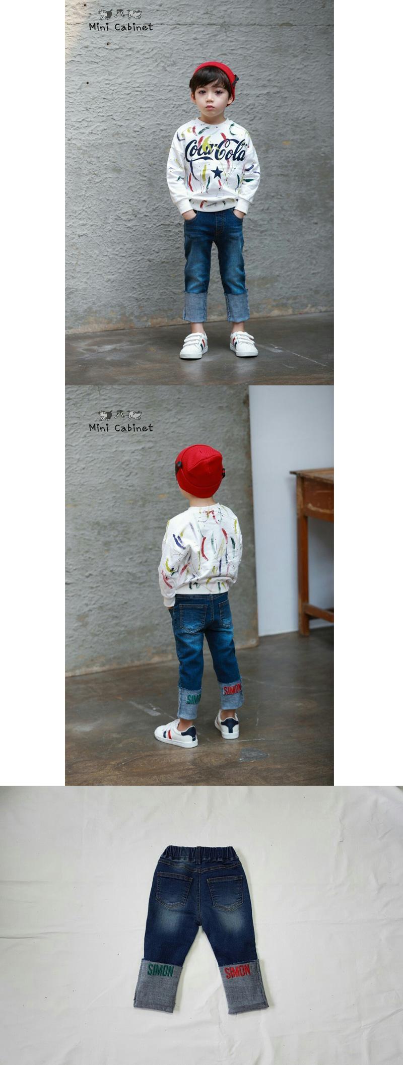 MINI CABINET - Korean Children Fashion - #Kfashion4kids - Denim Rollup Pants