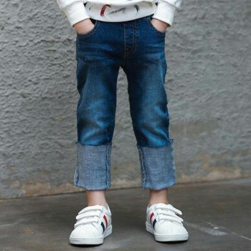 MINI CABINET - BRAND - Korean Children Fashion - #Kfashion4kids - Denim Rollup Pants