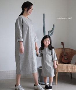 FW Stripe Long Dress