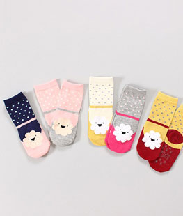 Cloud Chuchu Socks [set of 5]