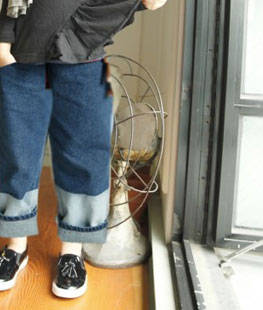 Snap Denim Pants