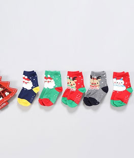 Merry Christmas Socks [set of 5]
