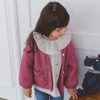 SEWING-B - BRAND - Korean Children Fashion - #Kfashion4kids - Hachi Cardigan