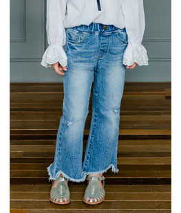 Diagonal Boots Cut Jeans