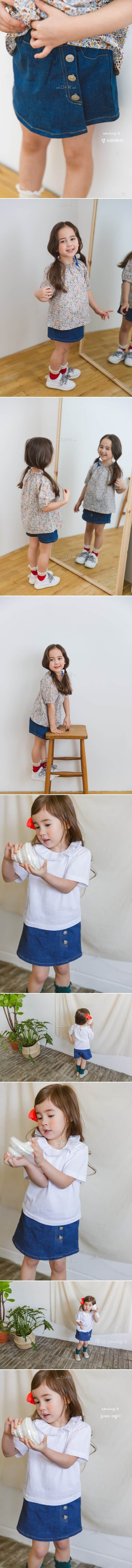 SEWING-B - Korean Children Fashion - #Kfashion4kids - Denim Lap Skirt Pants