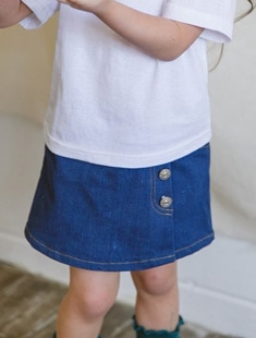 SEWING-B - BRAND - Korean Children Fashion - #Kfashion4kids - Denim Lap Skirt Pants