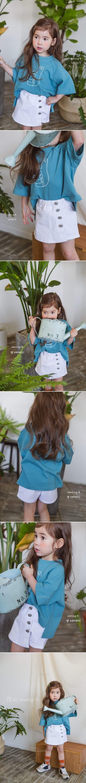 SEWING-B - Korean Children Fashion - #Kfashion4kids - White Lap Skirt Pants