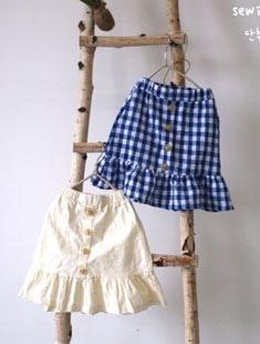 SEWING-B - BRAND - Korean Children Fashion - #Kfashion4kids - Button Skirt