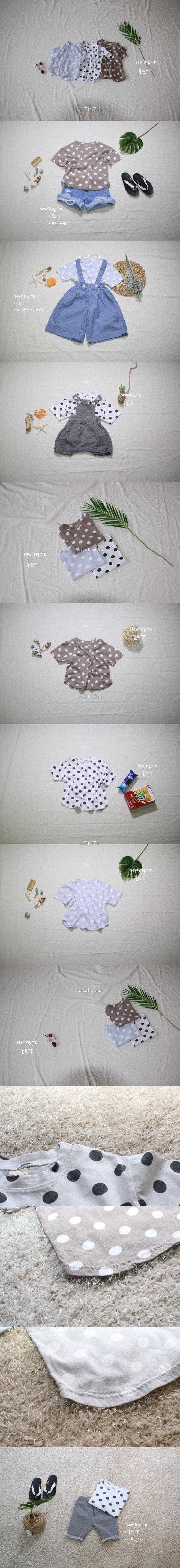 SEWING-B - Korean Children Fashion - #Kfashion4kids - Dot Tee