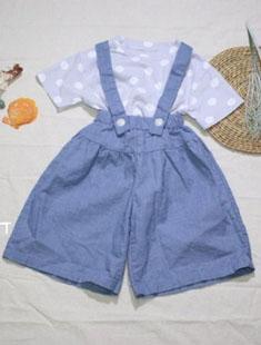 SEWING-B - BRAND - Korean Children Fashion - #Kfashion4kids - Ma Wide Suspenders Pants