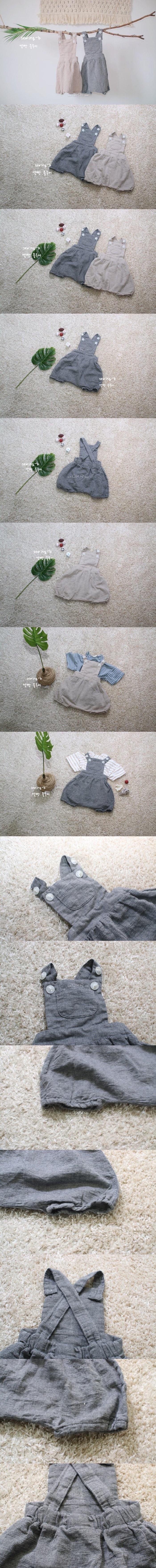 SEWING-B - Korean Children Fashion - #Kfashion4kids - Suspenders Bloomer