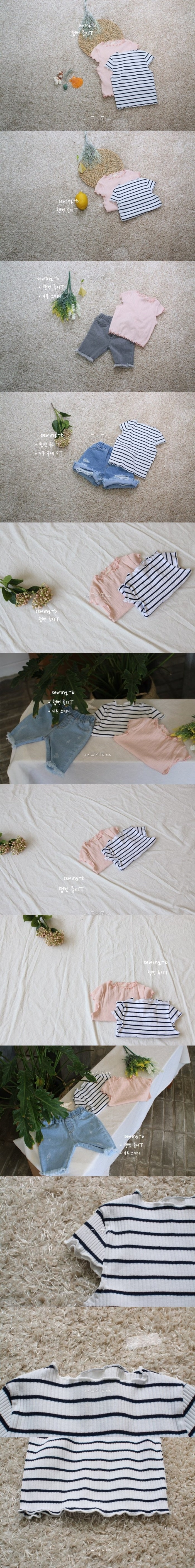 SEWING-B - Korean Children Fashion - #Kfashion4kids - Hepburn Golgi Tee