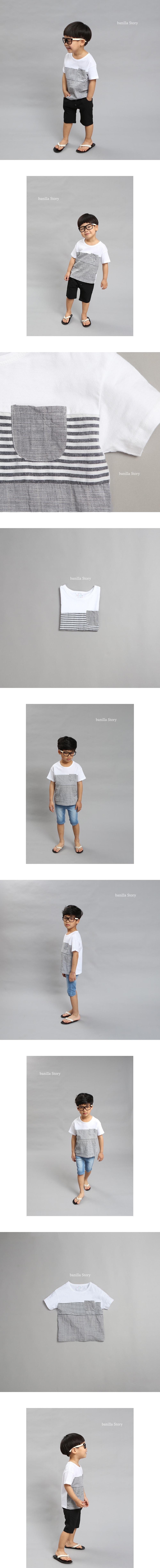 BANILLA STORY - Korean Children Fashion - #Kfashion4kids - Linen Basic Tee