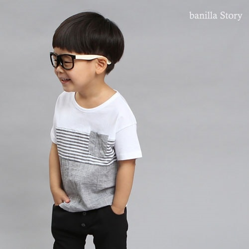 BANILLA STORY - BRAND - Korean Children Fashion - #Kfashion4kids - Linen Basic Tee