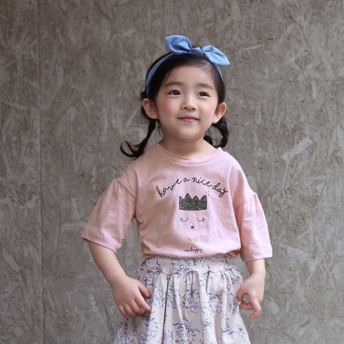 BANILLA STORY - BRAND - Korean Children Fashion - #Kfashion4kids - Crown Tee