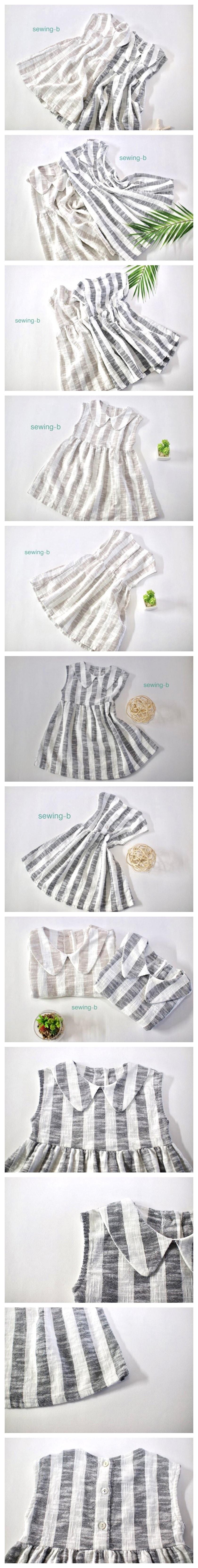 SEWING-B - Korean Children Fashion - #Kfashion4kids - Linen Collar Dress