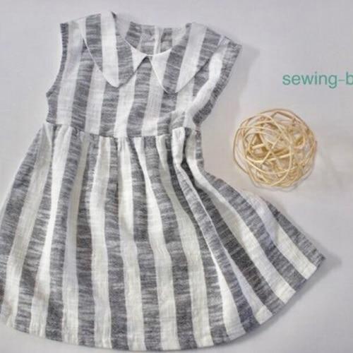 SEWING-B - BRAND - Korean Children Fashion - #Kfashion4kids - Linen Collar Dress
