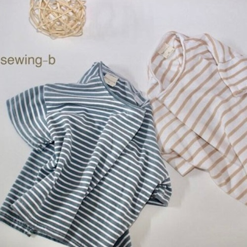 SEWING-B - BRAND - Korean Children Fashion - #Kfashion4kids - Summer Stripe Tee