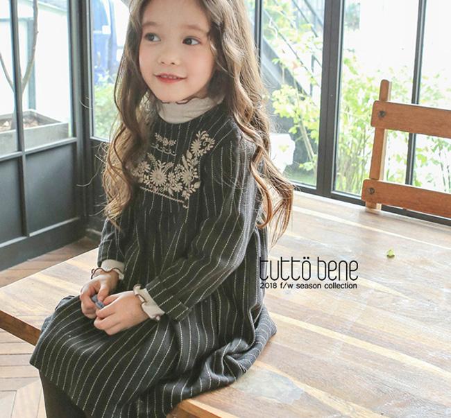 TUTTO BENE - BRAND - Korean Children Fashion - #Kfashion4kids - Embroidery One-piece