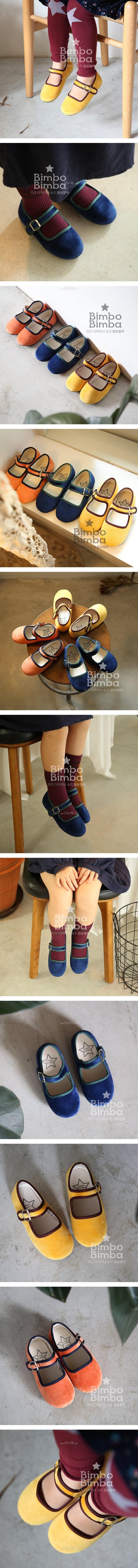 BIMBO BIMBA - Korean Children Fashion - #Kfashion4kids - Two-tone Velvet Flats