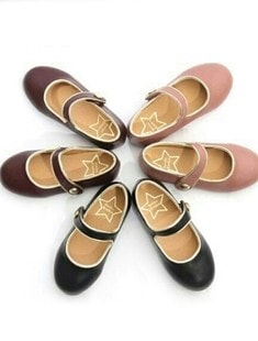 BIMBO BIMBA - BRAND - Korean Children Fashion - #Kfashion4kids - Gold Mary Jane Flats