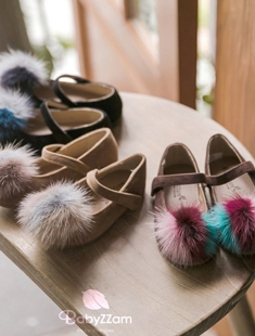 BABYZZAM - BRAND - Korean Children Fashion - #Kfashion4kids - Kalla Pom Flats