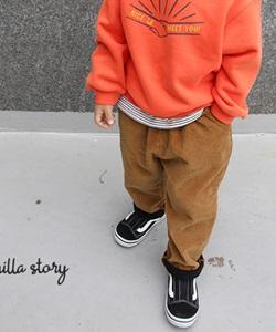 BANILLA STORY - BRAND - Korean Children Fashion - #Kfashion4kids - Corduroy Banding Pants