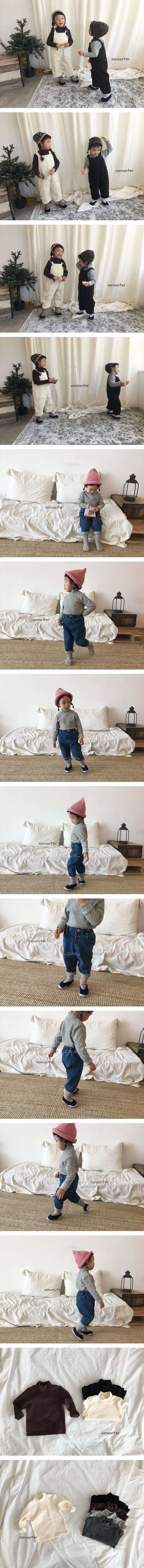 CONCOCTER - Korean Children Fashion - #Kfashion4kids - Stripe Winter Neck Polar Tee