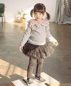 WANDOOKONG - BRAND - Korean Children Fashion - #Kfashion4kids - Brushed Scott Skirt Leggings