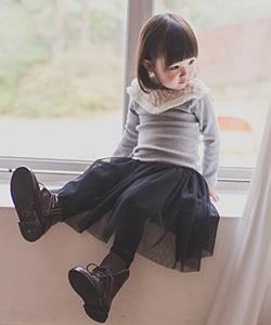 WANDOOKONG - BRAND - Korean Children Fashion - #Kfashion4kids - Soc Brushed Cancan Long Skirt Leggings