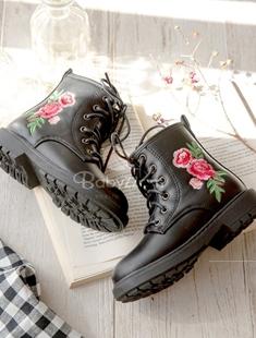 BABYZZAM - BRAND - Korean Children Fashion - #Kfashion4kids - Flower Embroidery Boots