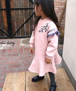BANILLA STORY - BRAND - Korean Children Fashion - #Kfashion4kids - Flower Embroidery One-piece