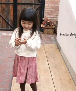 BANILLA STORY - BRAND - Korean Children Fashion - #Kfashion4kids - Velvet Color Dress