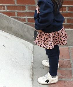 BANILLA STORY - BRAND - Korean Children Fashion - #Kfashion4kids - Leopard Skirt Leggings