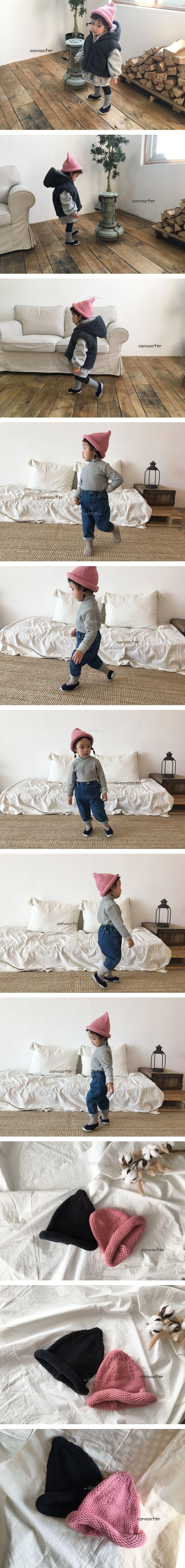 CONCOCTER - Korean Children Fashion - #Kfashion4kids - Rolling Knit Hat