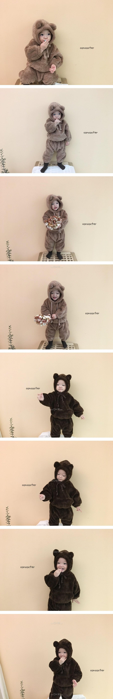 CONCOCTER - Korean Children Fashion - #Kfashion4kids - Bear Top Bottom Set