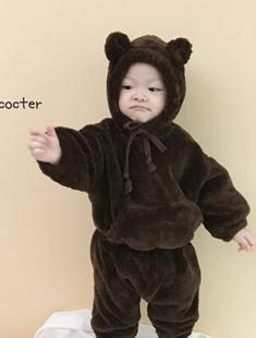 CONCOCTER - BRAND - Korean Children Fashion - #Kfashion4kids - Bear Top Bottom Set