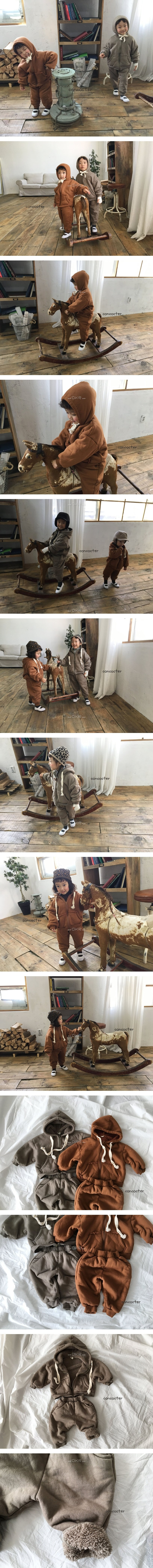 CONCOCTER - Korean Children Fashion - #Kfashion4kids - Lulu Dumble Boa Zip-up Set