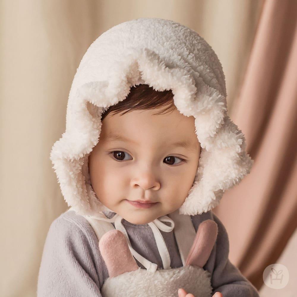 HAPPY PRINCE - Korean Children Fashion - #Kfashion4kids - Karan Frill Winter Bornet