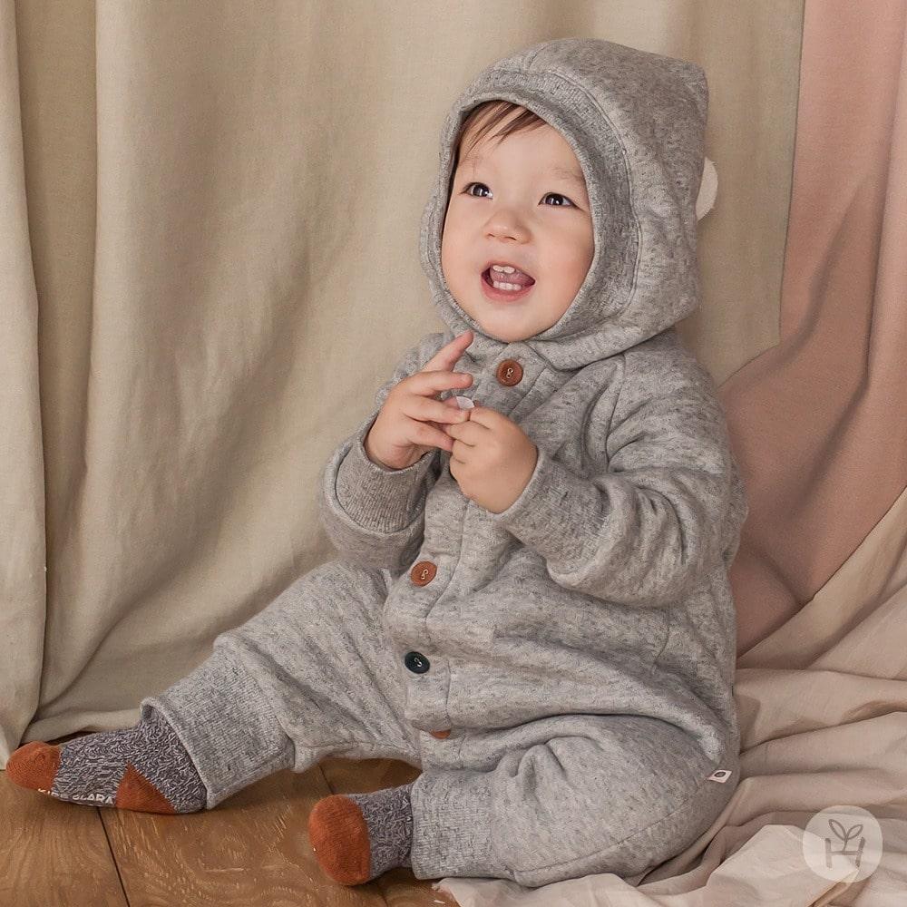 HAPPY PRINCE - Korean Children Fashion - #Kfashion4kids - Denver Hood Coveralls