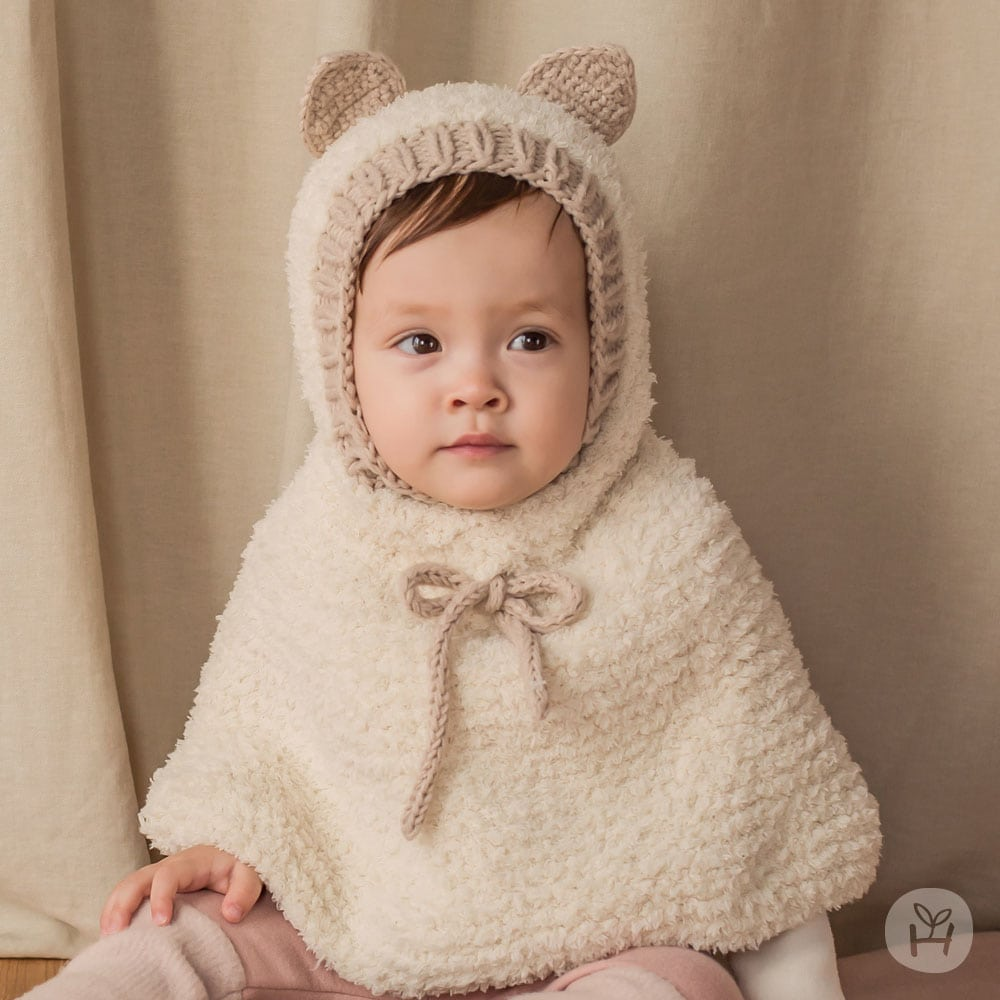 HAPPY PRINCE - Korean Children Fashion - #Kfashion4kids - Onia Bear Knitting Cape - 2