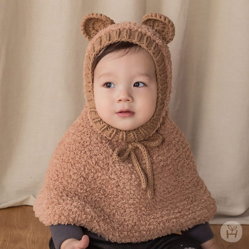 HAPPY PRINCE - BRAND - Korean Children Fashion - #Kfashion4kids - Onia Bear Knitting Cape