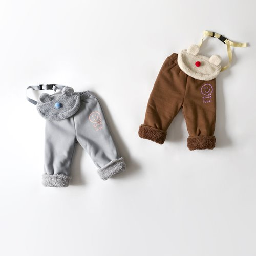 HETZEBEBE - BRAND - Korean Children Fashion - #Kfashion4kids - Smile Fur Baggy Pants